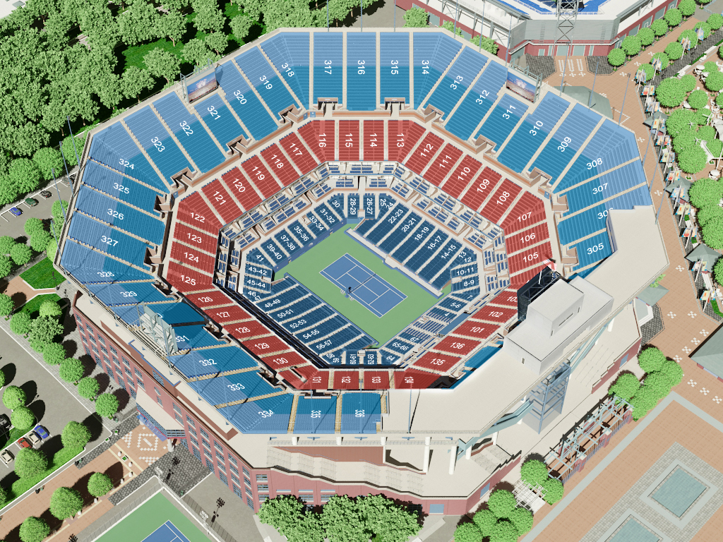Arthur Ashe Stadium Seating Map