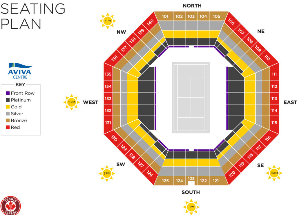 Aviva Centre Seating Map
