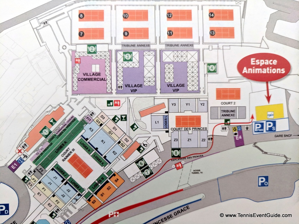 Monte Carlo Rolex Masters Grounds Map