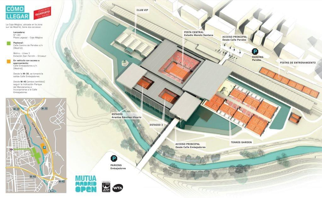 Madrid Open Caja Magica Grounds Map