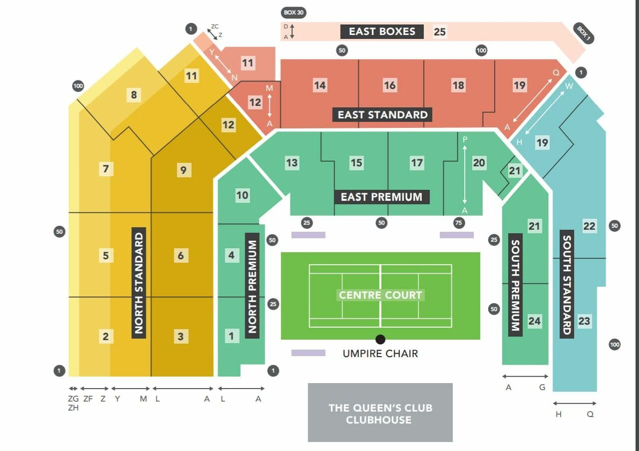 Queens Club Championships Seating Chart Centre Court