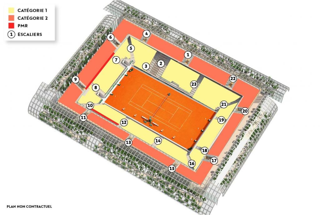 Simonne-Mathieu Court Seating Map