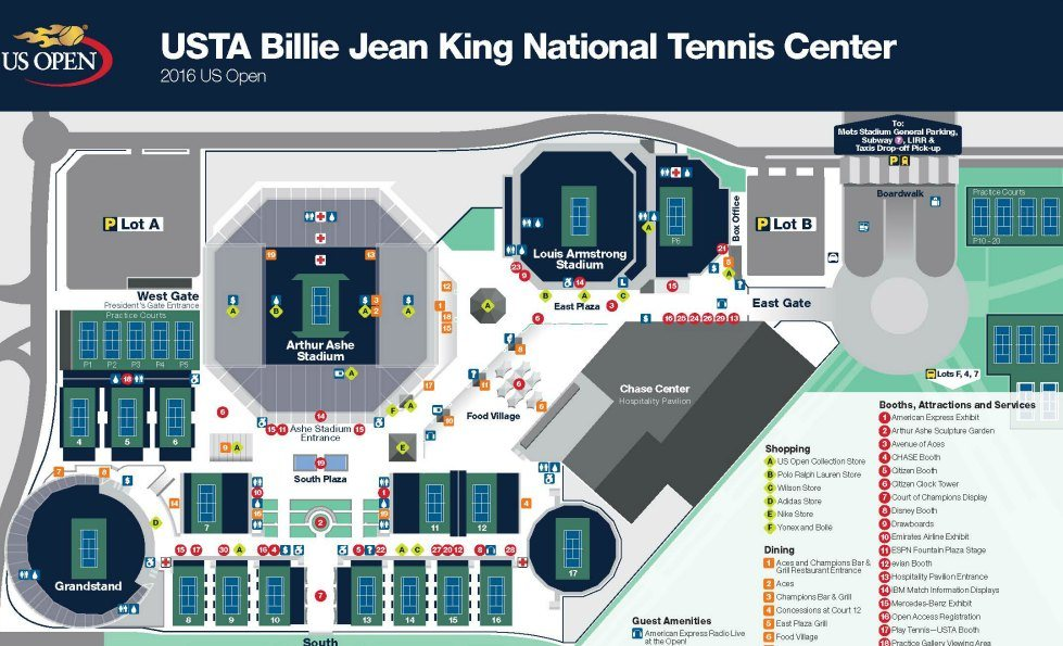 Us Open Tennis Nyc Tickets Courts Coupons 2 For 1 Kids Day Tips - Us-open-tennis-location-map